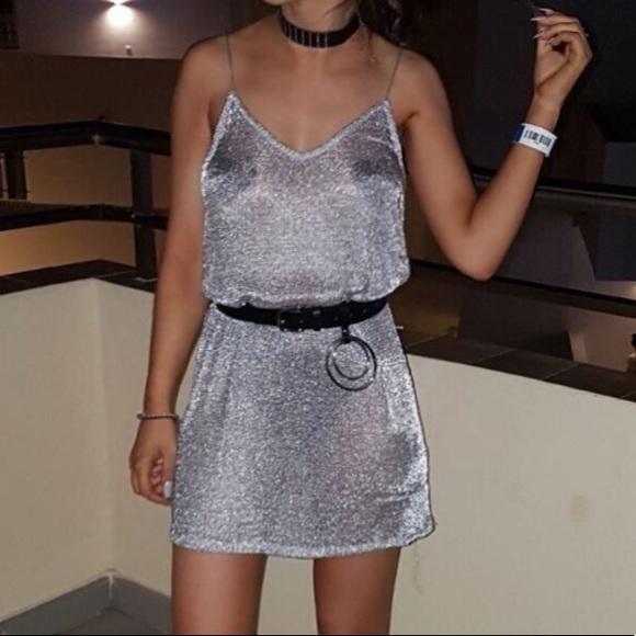 Zara Dresses & Skirts - 🦋Metallic Mesh Dress/Cover-Up🦋